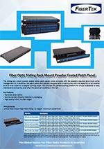 Sliding rack mount patch panels