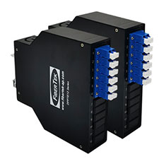 Din Rail Plastic Patch Panel with LC Duplex Adapters