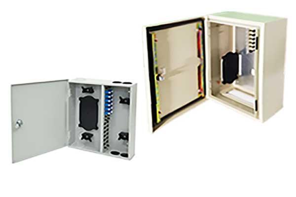 Indoor and Outdoor Wall Mount Fiber Optic Patch Panels
