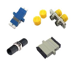 Various types of fiber optic adapters