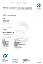 Test Certification for FUTGCZ cable