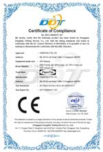 FP-S1213L-20I CE Certificate of Compliance under EC Council Directive