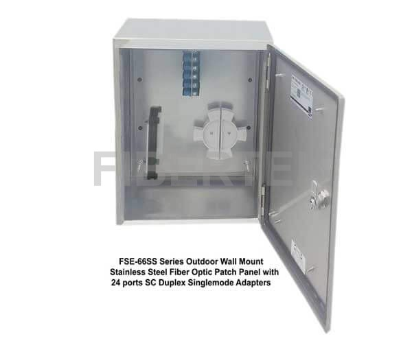 FSE-66SS Series Wall Mount Fiber Patch Panel with SC Duplex Adapters