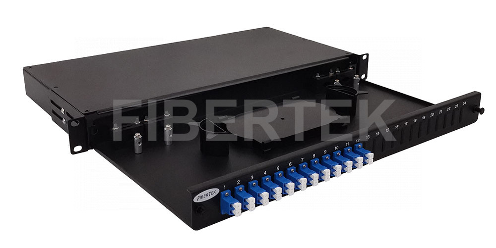 FPP124 Rack Mount Fiber Patch Panel with LC Duplex Adapters