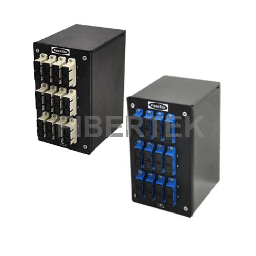 Din Rail Fiber Patch Panel DPPY24 BK Series SC Singlemode and Multimode Adapters