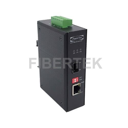 Industrial Gigabit Ethernet Converter FCNID-1GN-1GS Series with 1 SFP slot and 1 RJ45 port