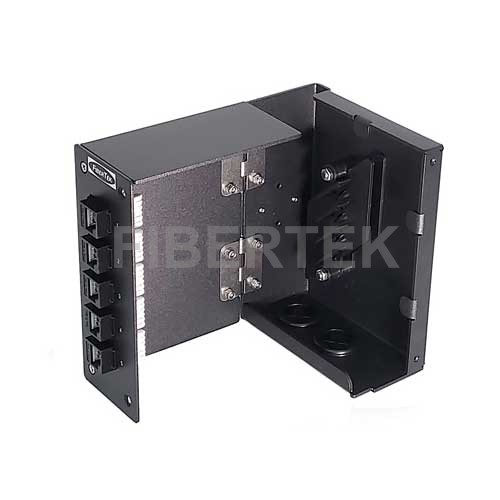 Swing out view of DPPY12 UTP CAT6A Patch Panel